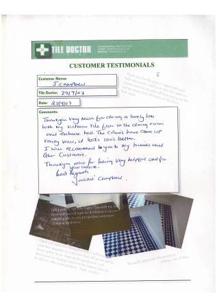 Testimonial from J Campbell
