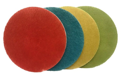 17 Inch Set of four Burnishing Pads inc  No 1,2,3 and 4