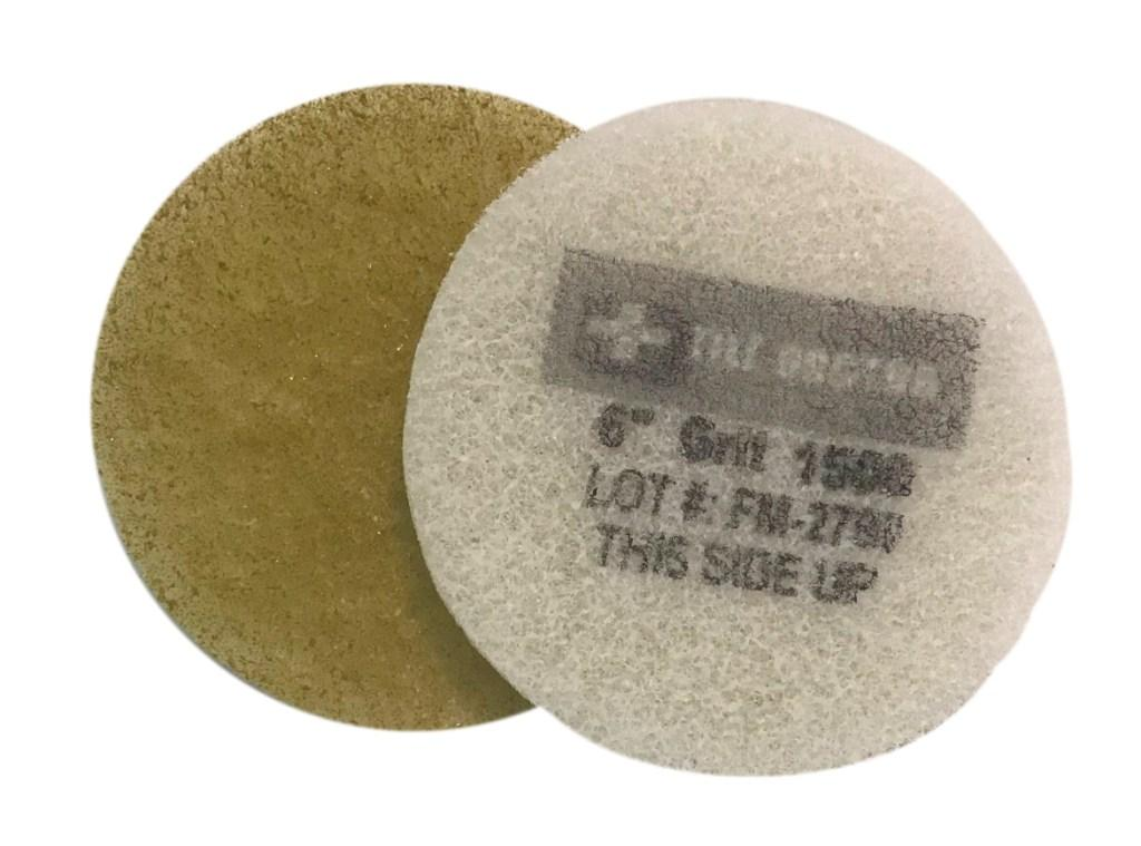 6 Inch 1500 Grit Fine Yellow No.3 Burnishing Pad