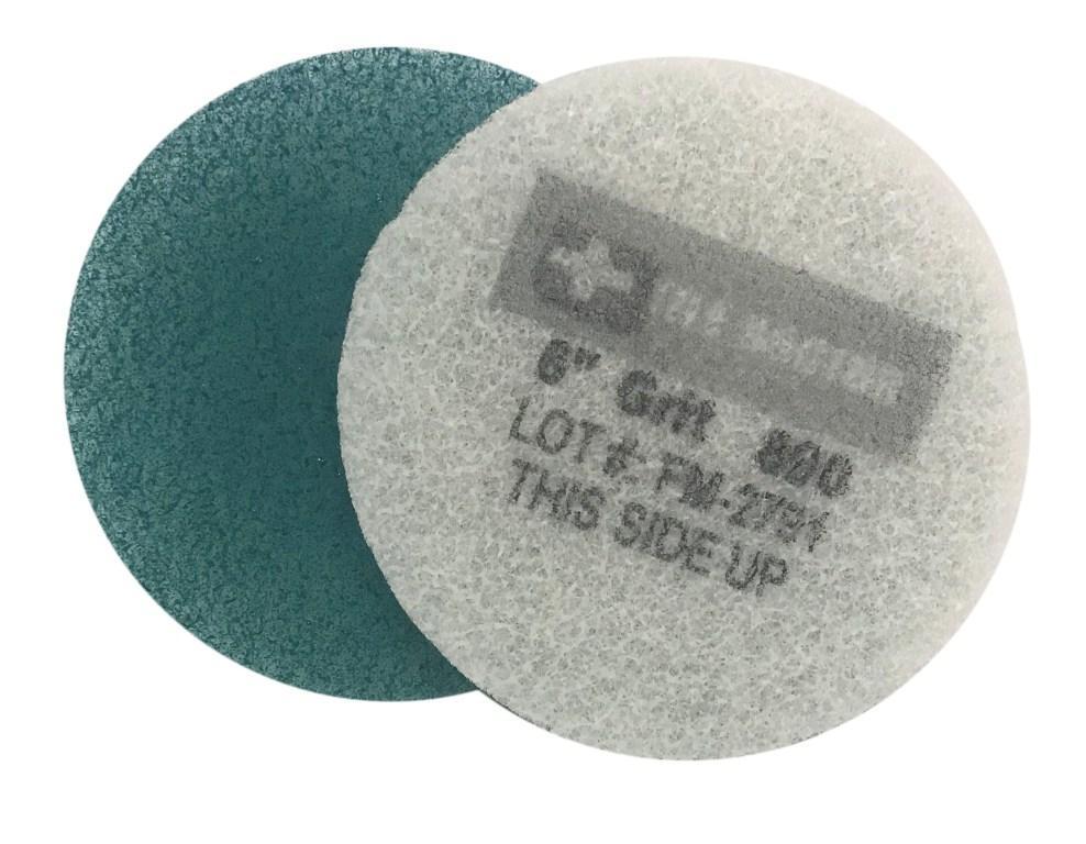 6 Inch  800 Grit Medium Blue No.2 Burnishing Pad