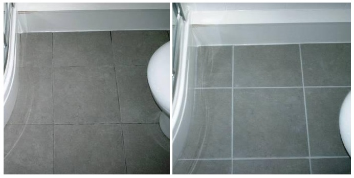 Before Picture   Grout Colour Restored On A Ceramic Tiled Bathroom Floor By  The Tile Doctor Part 63