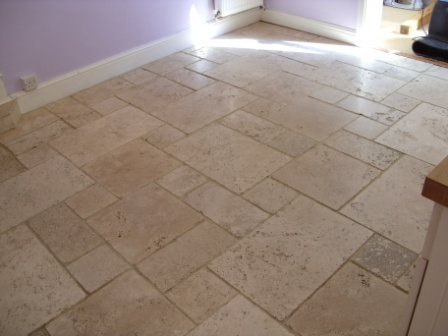 Limestone floor renovated by Tile Doctor Warwickshire