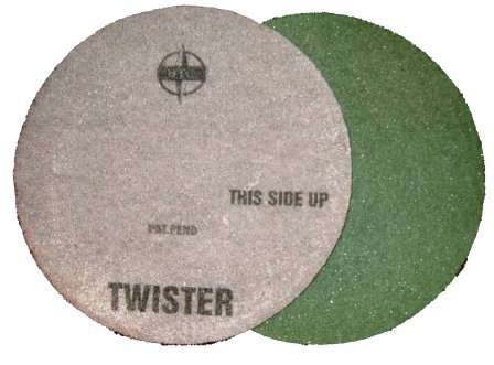 Green Twister pad for burnishing Marble floors