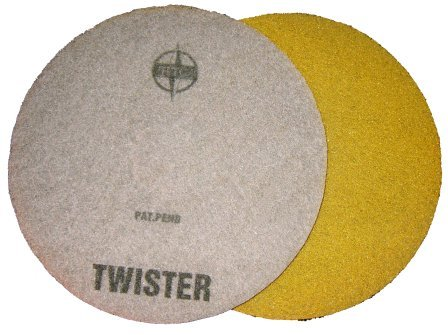 Yellow Twister pad for burnishing Pad Marble floors
