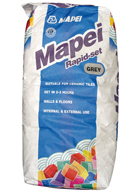 Mapei Rapid-Set quick drying cement based floor tile adhesive for internal and external ceramic floor tile installations