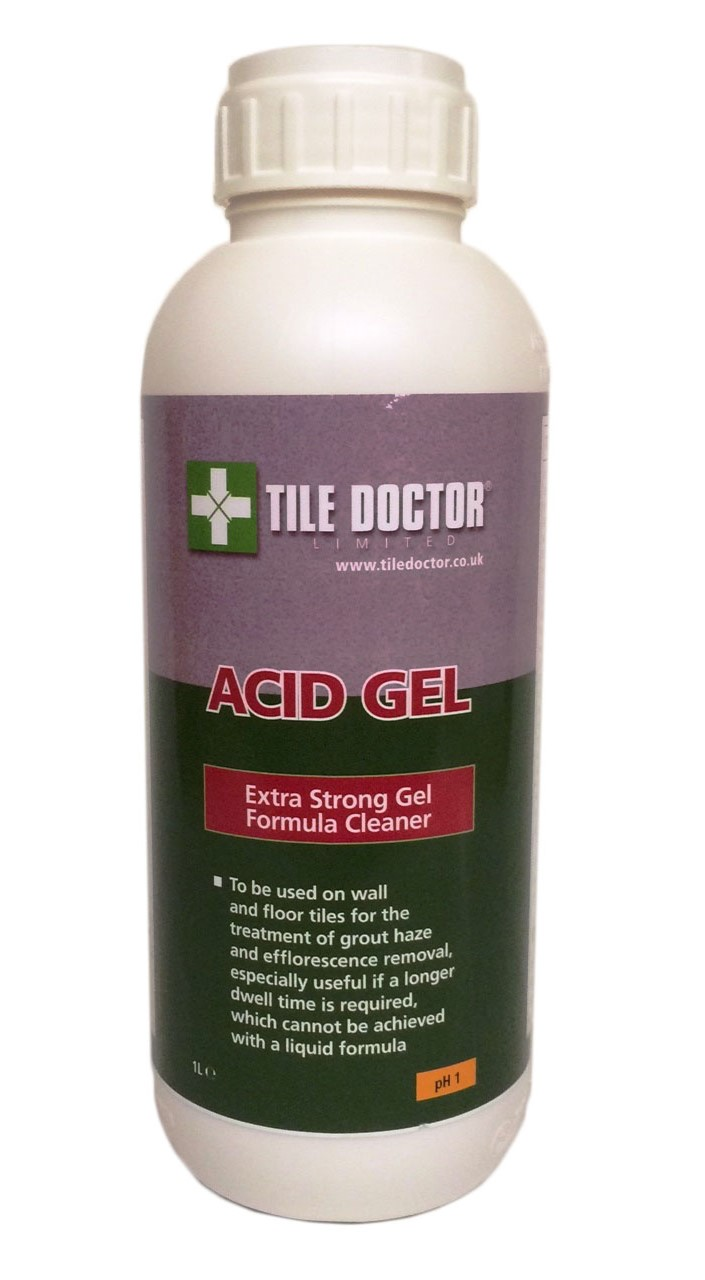 Tile Doctor Acid Gel for removing grout smears from wall tiles