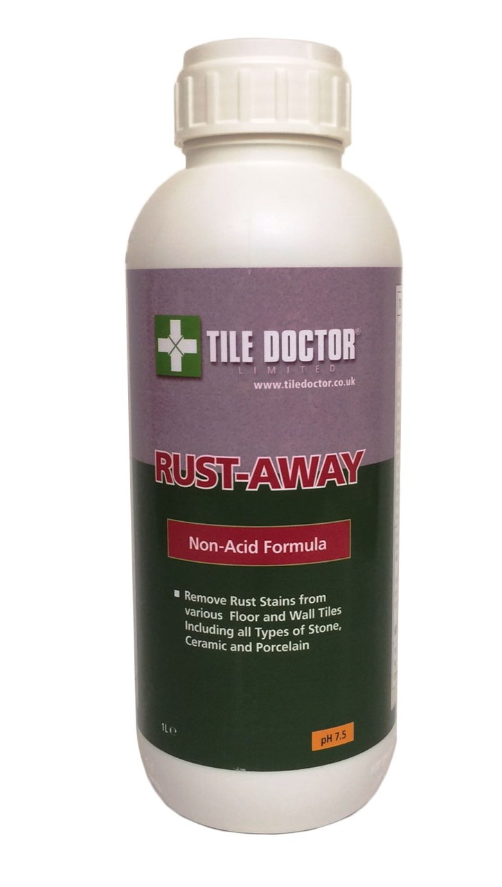 Tile Doctor Rust Away for the removal of rust stains from tile and stone