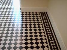 Victoria Floor in Cheshire Restored by the Lancaster Tile Doctor