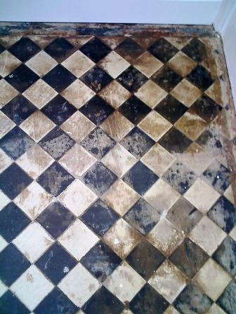 Victorian Tile before being cleaned by Tile Doctor