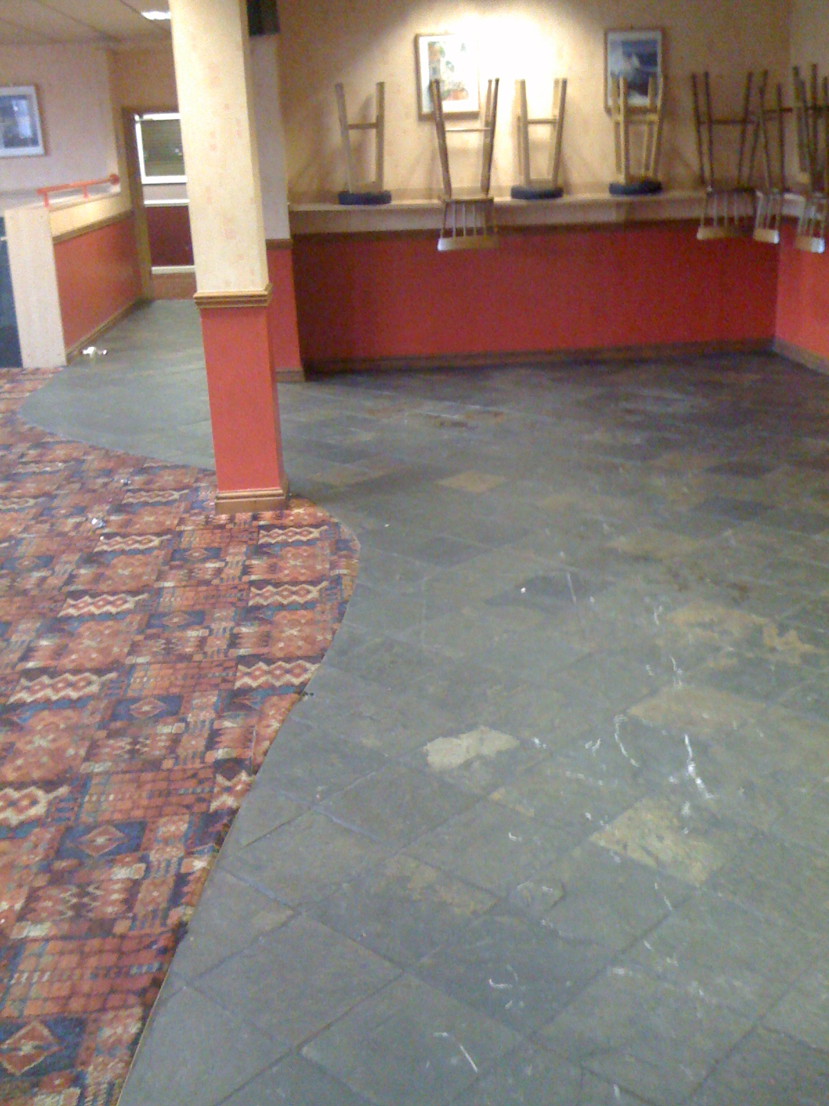 Slate tile cleaning information slate floor in a workings mens club in desperate need of a clean and seal dailygadgetfo Gallery