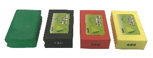 Diamond hand burnishing block set ( Green,Black,Red, Yellow )