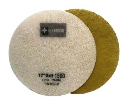 17 Inch  1500 Grit Fine Yellow No.3 Burnishing Pad