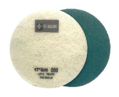 17 Inch   800 Grit Medium Blue No.2 Burnishing Pad