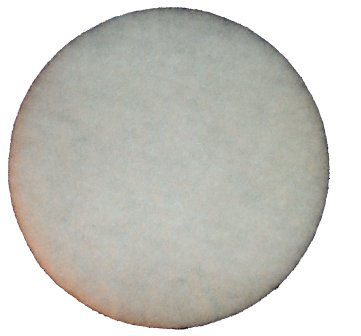 17 inch Buffing Pad White