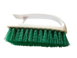 Green Handheld Scrubbing Brush
