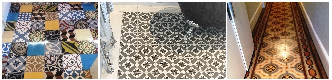 Encaustic Cement Tile Cleaning