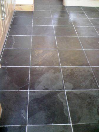 Brazilian riven Slate floor before cleaning and sealing