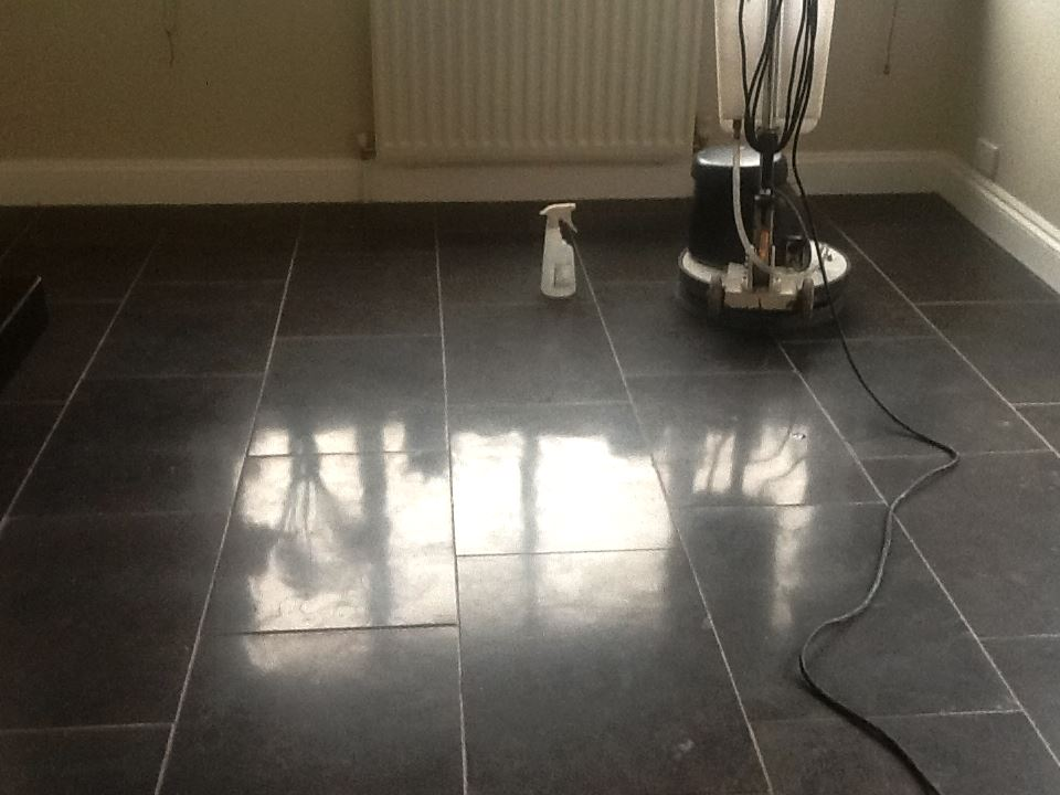 Polishing a Marble Floor in Northampton