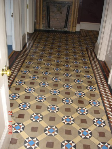 Victorian Tile before being cleaned by Kent Tile Doctor