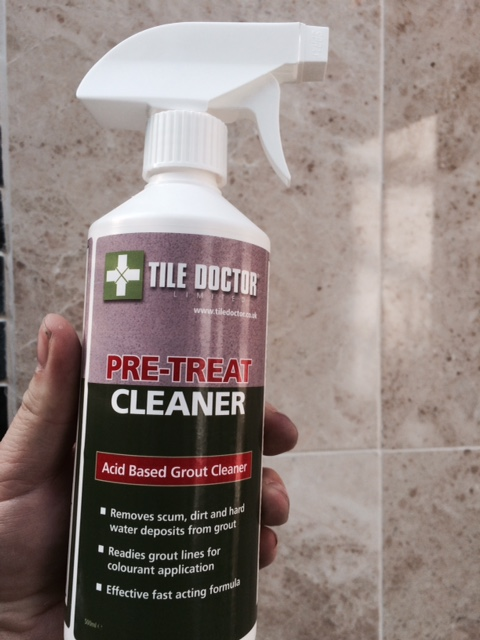 Step 1 - Clean your grout with the Pre-Treater