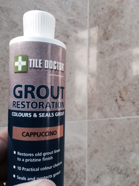 Step 3 - Shake the Grout Colourant well before applying.