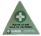 Safety Triangle - Do not walk on the floor