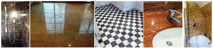 Cleaning and Polishing Marble tiles