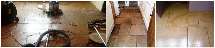 Cleaning and Renovating Sandstone Floors