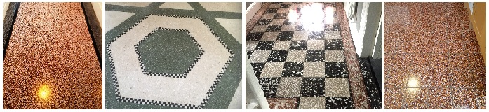 Cleaning and Polishing Terrazzo tiles