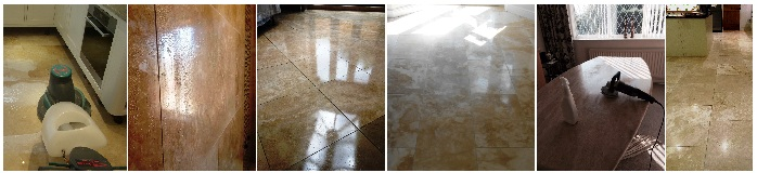 Cleaning and Polishing Travertine tiles