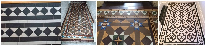 Cleaning and Renovating Victorian Tiles