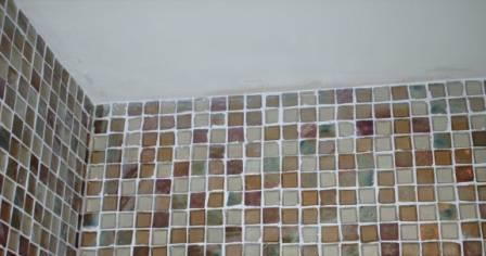 Picture shows tiles after Grout has been removed with Tile Doctor Grout Clean-Up