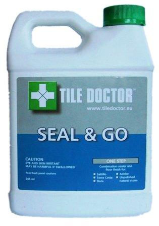 Tile Doctor Seal & Go Sealer for Quarry Tile, Sandstone, Slate and Terracotta