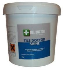Tile Doctor Shine Crystalising Powder providing a high shine an amazing and durable finish